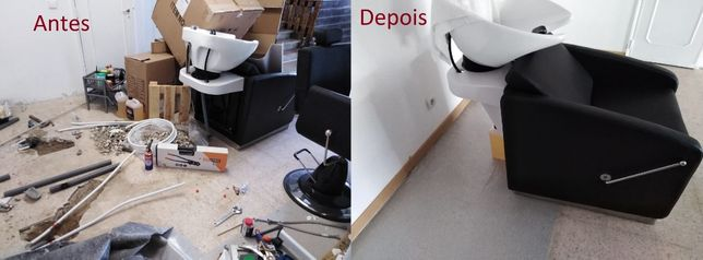 Serviços de canalização, reparação