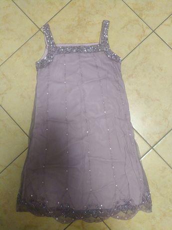 Sukienka Next 134cm pudrowy róż