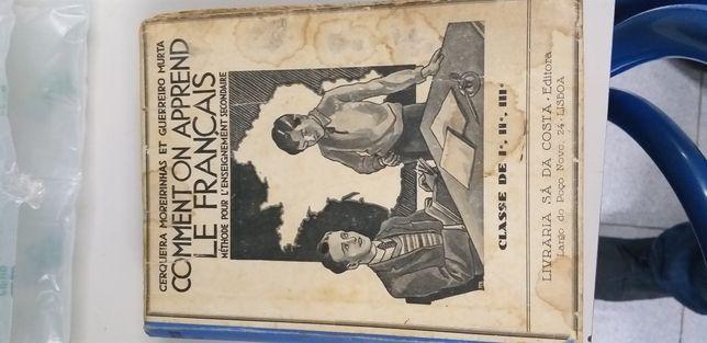 Comment on aprend le français da livraria Sá da costa. 1960