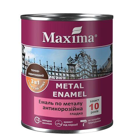 Эмаль антикоррозийная по металлу 3 в 1 Maxima гладкая