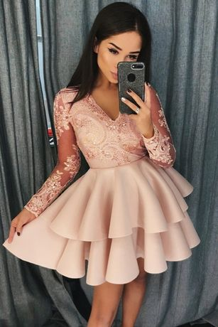 krótka sukienka koktajlowa ślub wesele druhna 40 L