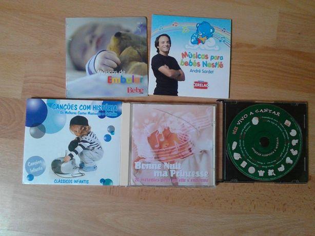 5 CD's de música infantil