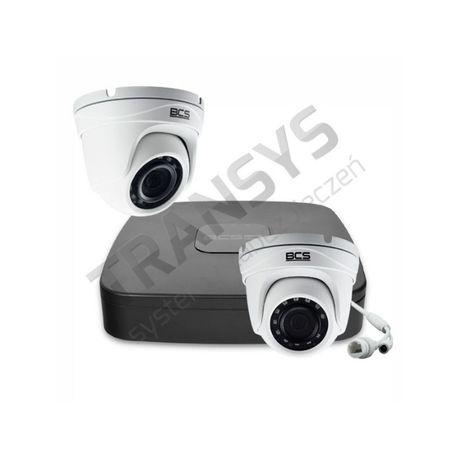 Monitoring, zestaw monitoringu 2 kamery IP FullHD i rejestrator z PoE