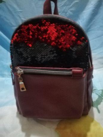 Рюкзачок бордовий
