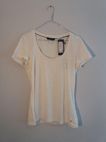 Tommy Hilfiger- nowa, biała koszulka damska