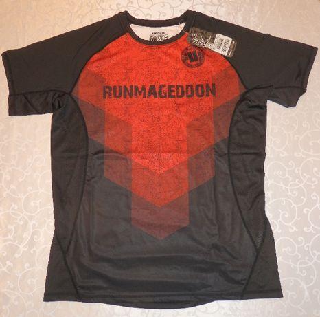 Koszulka Runmageddon Pit Bull West Coast M 2019 czerwono-czarna
