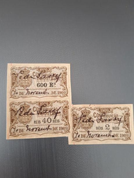 Selos fiscais antigos - Contribuição Industrial