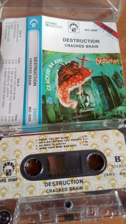 Destruction – Cracked Brain, KASETA MAGNETOFONOWA -Thrash-1990