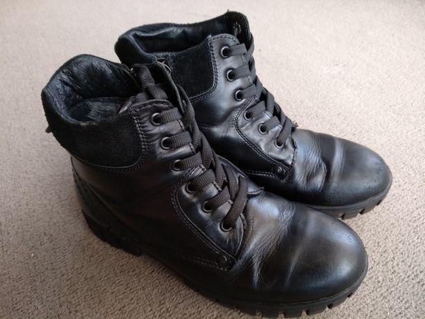 Детские кожаные зимние ботинки сапоги на мальчика размер 35