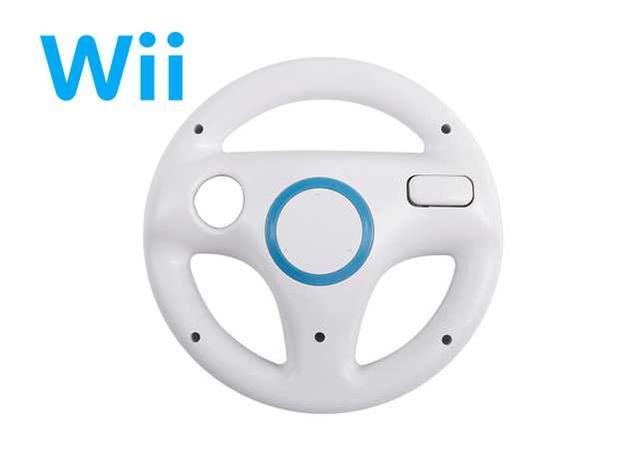 Wii   Wii U - Volante Branco - Mario Kart - NOVO