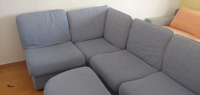 Sofa de canto Azul completo