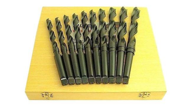 Zestaw Wiertła stożkowe do metalu HSS 10szt kpl MK2 14,5mm-23mm