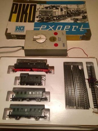 Zestaw Piko Expert H0 1/87 Elektrowóz br244 3 wagony zasilacz fz tory