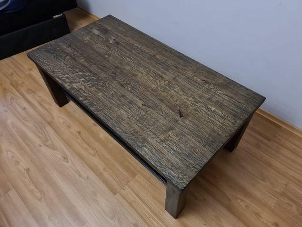 Lity stół z drewna dębowego