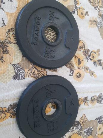 Hantle dwa obciążniki po 1 kg