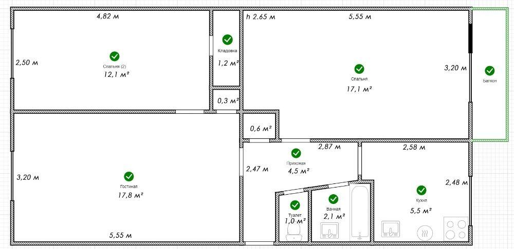 Продам в Ромнах 3 комнатную квартиру по ул. Коржевская Ромни - зображення 1