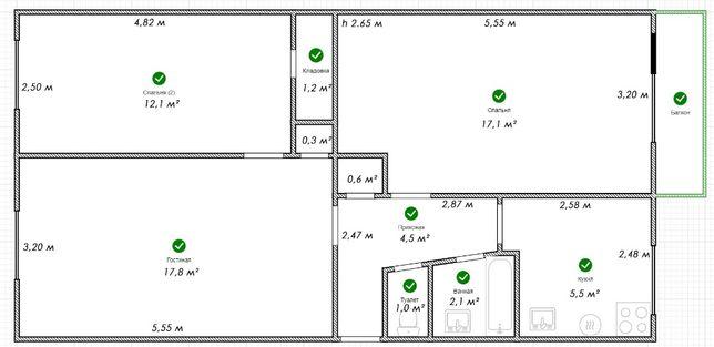 Продам в Ромнах 3 комнатную квартиру по ул. Коржевская
