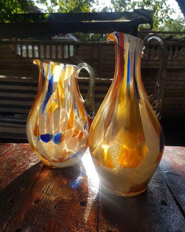 Кувшины из цветного стекла ссср