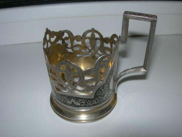 Подстаканник, серебряный, серебро 875 пробы, Кубачи, 89,7 грамма