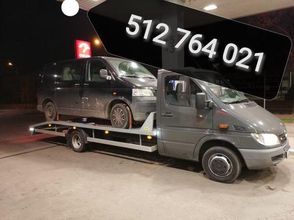 Transport, pomoc drogowa 24/7 wynajem Lawety autolaweta transport aut
