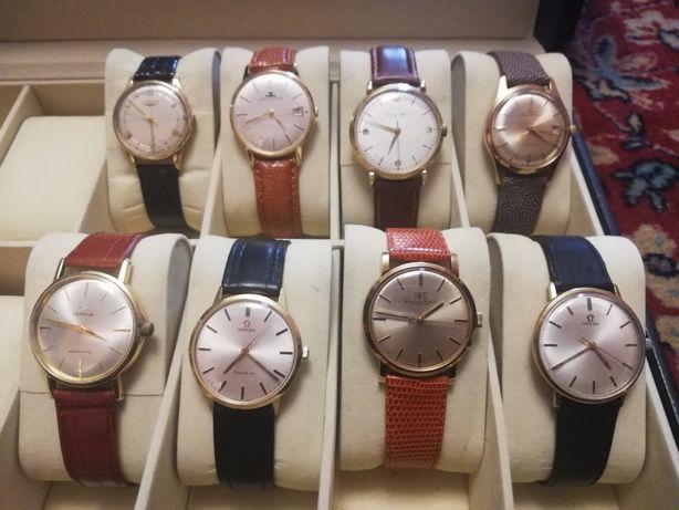 Złote szwajcarskie zegarki vintage, IWC, Omega, Jaeger-LeCoultre...