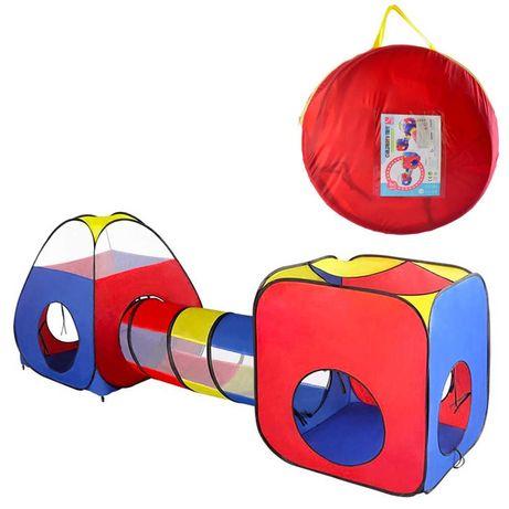 Детская игровая палатка два домика с тоннелем MR 0403 4 входа 273 см