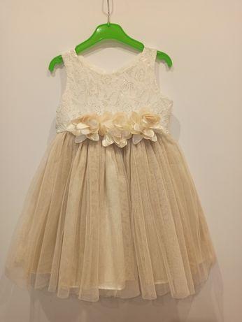 Piękna sukienka dla młodej damy rozm. 80