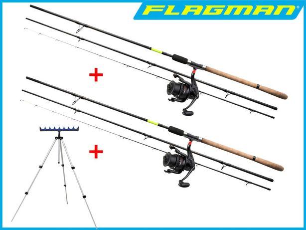 Фидера Flagman CastMaster 3.3m 3.6m + Катушки Flagman 6000 + Подставка