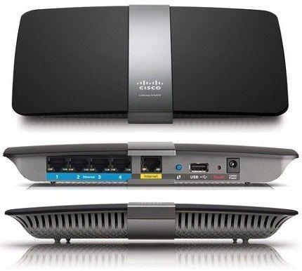 WiFi роутер Linksys E4200 гигабит, 5 ГГц + 2.4 ГГц USB