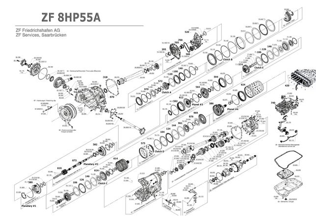 Разборка АКПП 8HP55 Audi A4 A6 Q5 2014 quattro