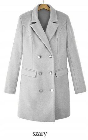 Nowy, szary płaszcz, rozmiar uniwersalny