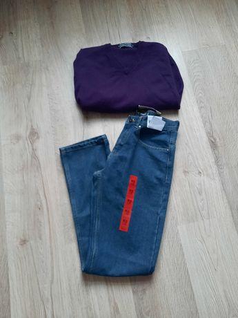 Spodnie i sweter męski roz M
