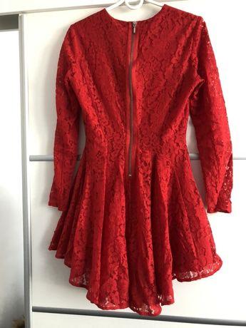 Sukienka damska rozmiar S 36 koronkowa rozkloszowana H&M