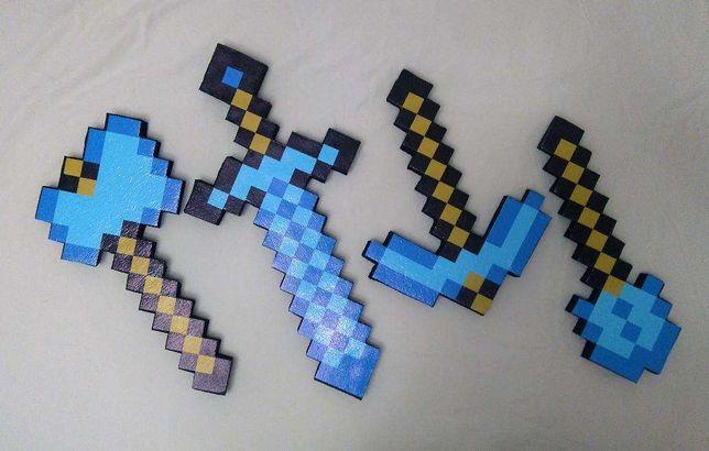 Акция Набор оружия Алмазная Кирка Меч 58 см Топор майнкрафт Minecraft