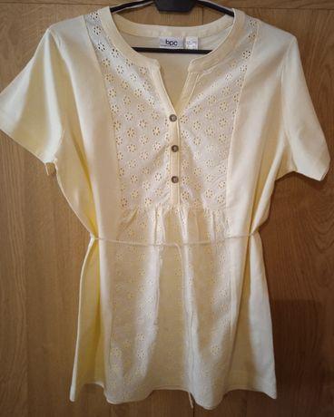Bluzka z krótkim rękawem w kolorze waniliowym