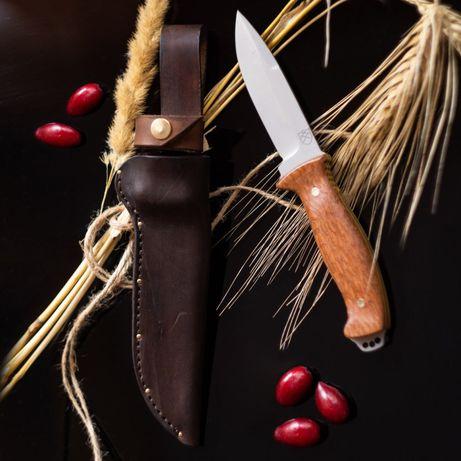 Нож ручной работы, кованный из стали 1.2379 (аналог х12мф)