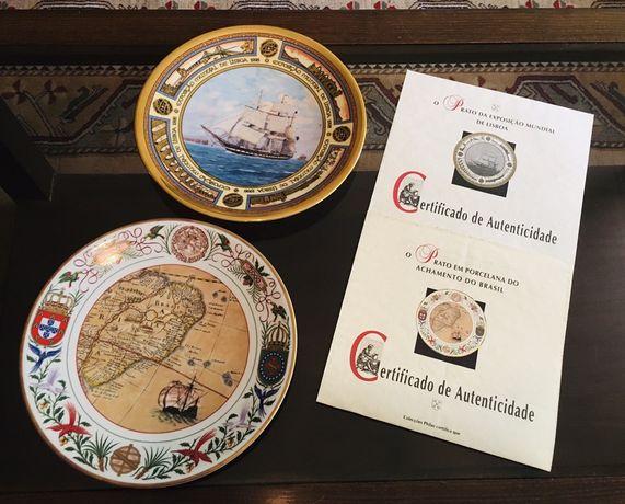 Pratos de Coleccao de Porcelana