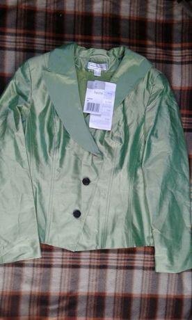Новый шелковый жакет пиджак косуха