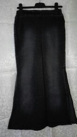 Długa spódnica jeans Only czarna roz 36
