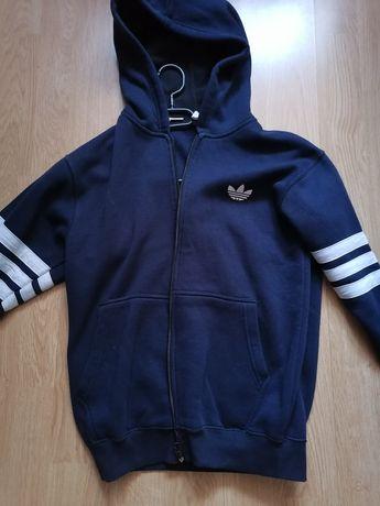 Bluza Adidas granatowa navy zip rozpinana