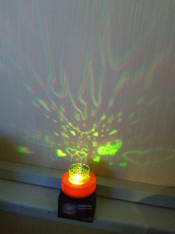 Ночник проектор в детскую Купидон сердце