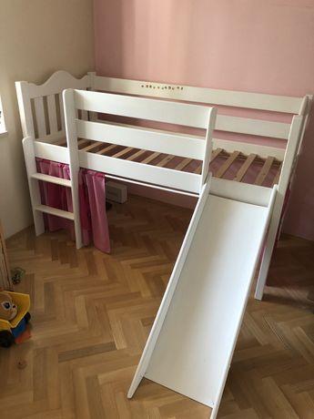 Łóżko dziecięce ze zjeżdzalnią 80x180
