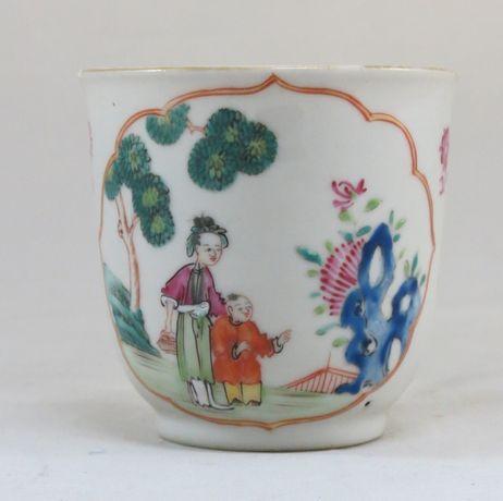 Chávena café Companhia das Índias Porcelana Chinesa dec fig orientais