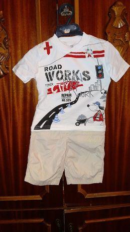 Костюм костюмчик новий на год летний літній шорти футболка на рік