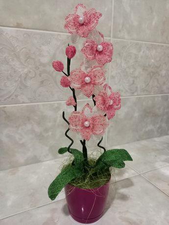 Цветы из бисера. Орхидея