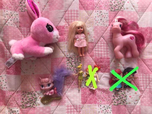 Brinquedos shelly, my little poney, the flintstones, ariel