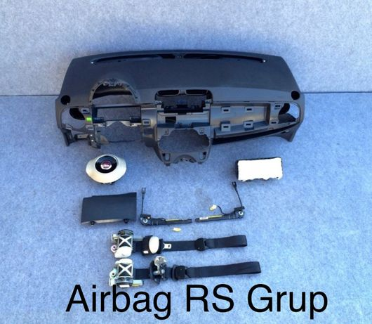 fiat 500 tablier painel do bordo airbags cintos