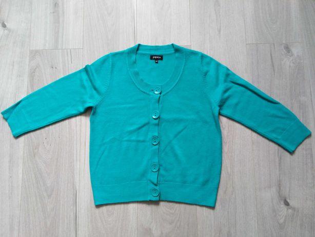 Sweterek zielony rozpinany zapinany