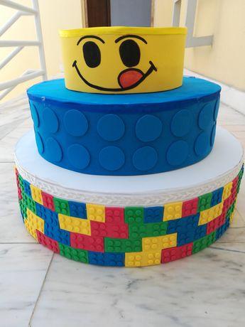 Bolo decorativo Lego