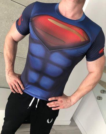 Koszulka Termoaktywna na SIŁOWNIE Rashguard DC SUPERMAN